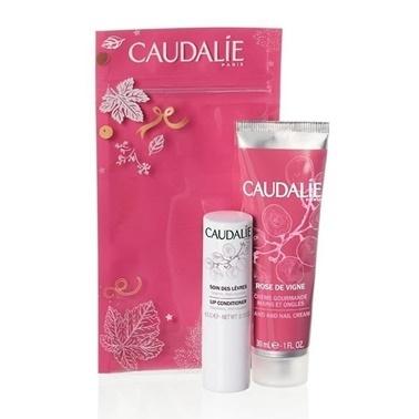 Caudalie Winter Duo Rose de Vigne Hand and Nail Cream Lip Conditioner Set Renksiz